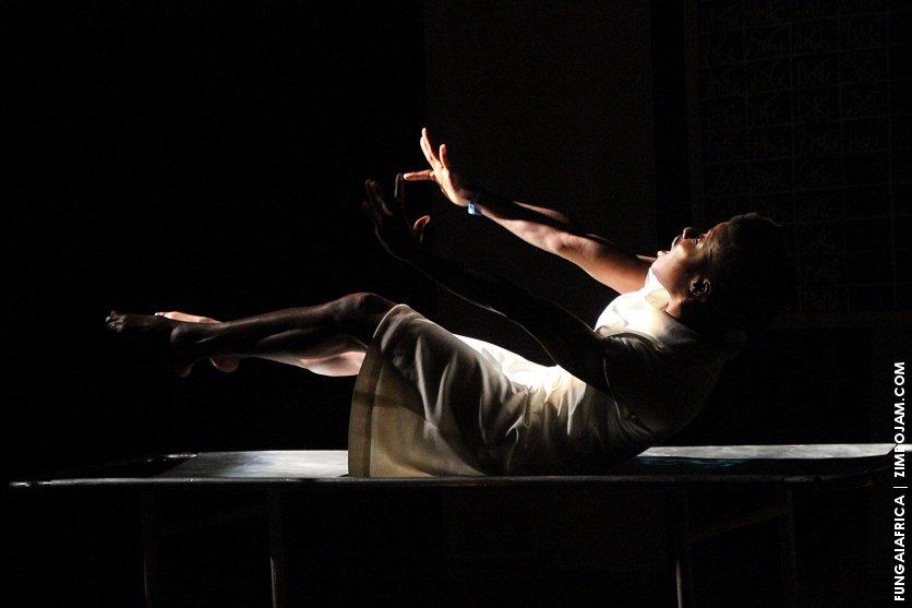 Adura Onashile as Henrietta Lacks in the moving play 'Hela' at HIFA 2015.