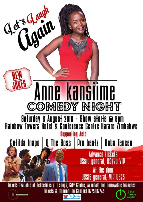 Ann Kansiime returns to Harare