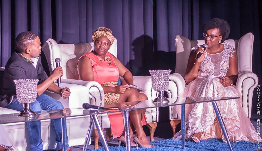 Ruvheneko Parirenyatwa(right), Joan Nyambe (middle) fashion designer, Kuda Chihungwa from K7 PIC: T. MANYANGADZE | ZIMBOJAM.COM