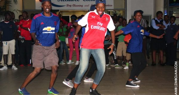 DSTV flashmob team PIC: T. NDABAMBI |ZIMBOJAM.COM