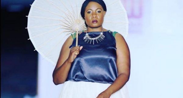 The ToweRing Goddess (Rutendo DeNise) struts her stuff at the Mozambique Fashion Week in 2015.