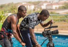 Director Tatenda Jamera on the Alhaji Set PIC: TWITTER NEXTLEVEL ENT