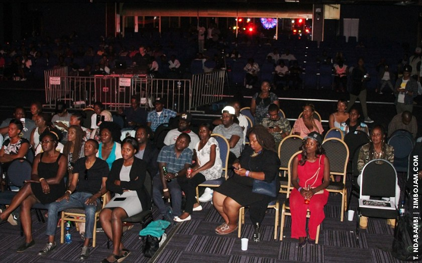 Part of the audience at the Toya Delazy show