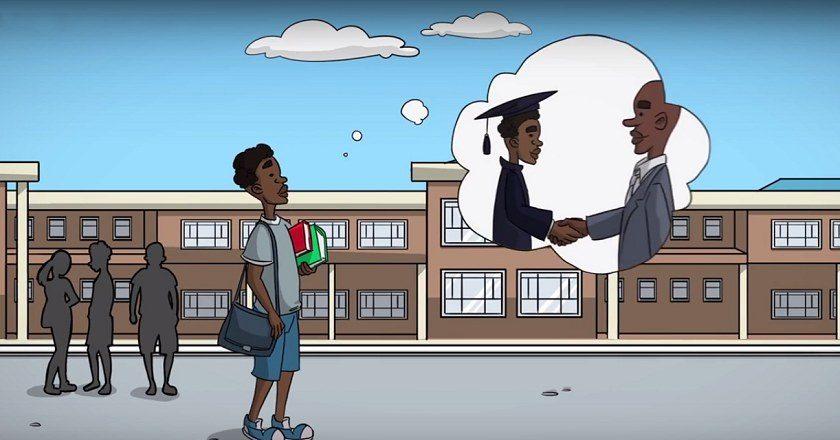 A screenshot from the Tenga-Thengisa video ad