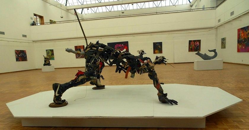 Artwork on display at the National Gallery of Zimbabwe in Harare. PIC: RAPHAEL CHIKUKWA