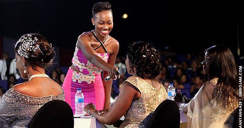 Rebecca talks to the judges during the Miss Tourism Zimbabwe pageant. PIC: T. MANYANGADZE | ZIMBOJAM.COM