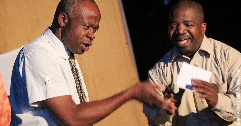 A scene from the play Super patriots and Morons that was performed at Theatre in the Park PIC: T. CHIHAMBAKWE | ZIMBOJAM.COM