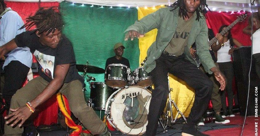 Baba Harare(right) getting down at his album. PIC: T. CHIHAMBAKWE | ZIMBOJAM.COM