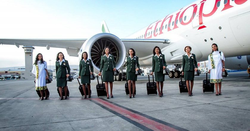 Ethiopian airlines made history in 2015 with the first all-woman flight team. Now they'll fly from Victoria Falls to Madrid, Spain. PIC: ETHIOPIAN AIRLINES