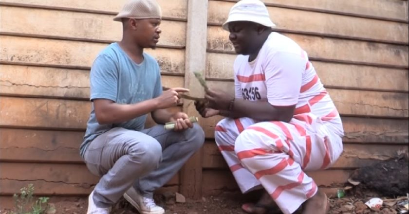 A scene with Boss Kedha and Farmboy in the comedy skit Ghetto Chapters