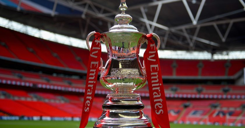 The Emirates FA Cup trophy at Wembley Stadium PIC: COURTESY OF FA.COM