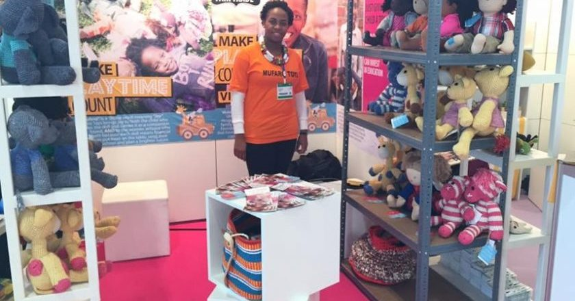 Tsitsi Mutendi at her toy stand at the Spielwarrenmesse Toy Fair in Germany PIC: COURTESY OF DANIEL MUTENDI