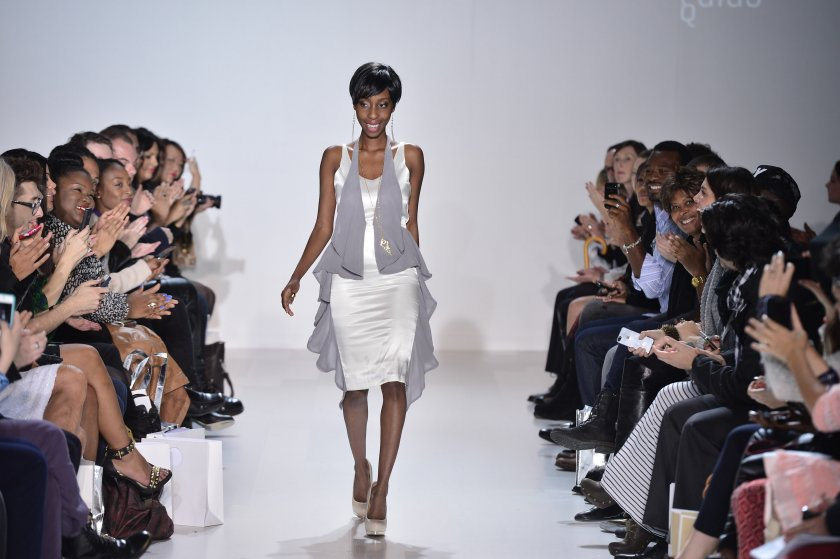 DeMoyo after showcasing her womens line at the World MasterCard Fashion Week in 2013 PIC: COURTESY OF FRONTROWMAG.COM
