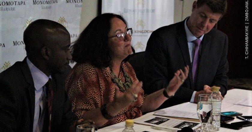 HIFA Executive Director Maria Wilson stressing a point. PIC: T. CHIHAMBAKWE | ZIMBOJAM.COM