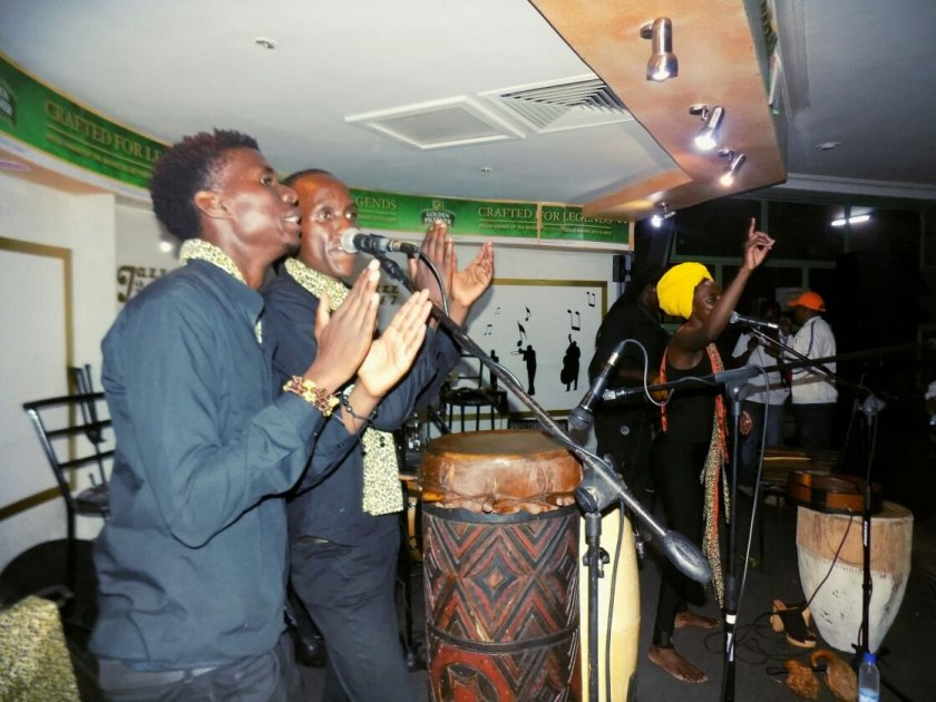 Hope Masike and her backing vocalists PIC: COURTESY OF HOPE