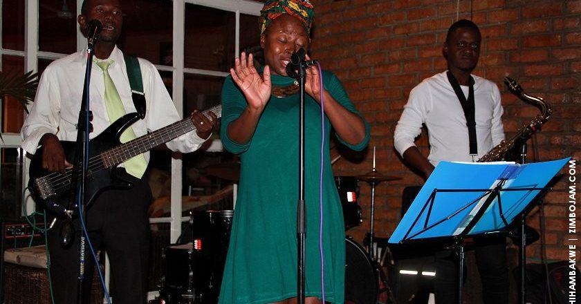 Prudence belting it out at yet another great jazzics evening. PIC: T. CHIHAMBAKWE.   ZIMBOJAM.COM