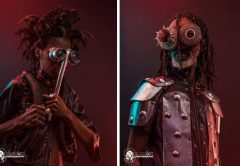 interesting photographic pieces shot with recycled material currently on sell PIC: SAMOK PHOTOGRAPHY