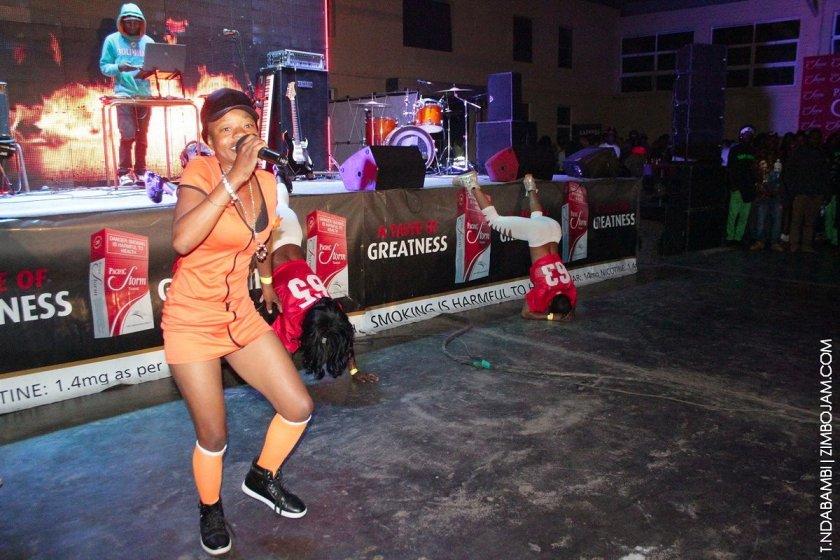 Lady Bee performing at the Turbulence show PIC: T. NDABAMBI | ZIMBOJAM.COM