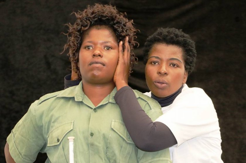 Eunice Tava (in white) directs new kid on the block and visually impaired, Edith Masango. PIC: COURTESY OF EUNICE TAVA