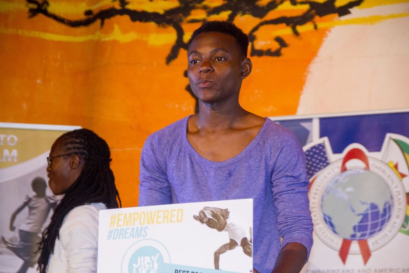 Kudzai Chikowe wins best b-boy at Jibilika 2016 in Mutare PIC: COURTESY OF JIBILIKA