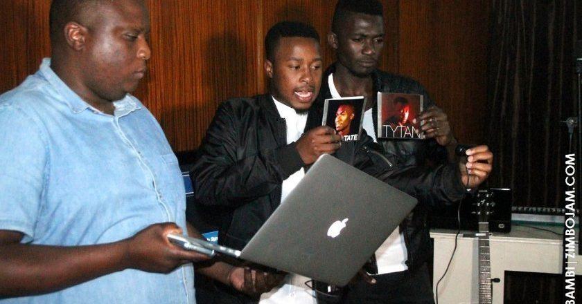 Tytan and Adrian during the live screening PIC: T. NDABAMBI | ZIMBOJAM.COM
