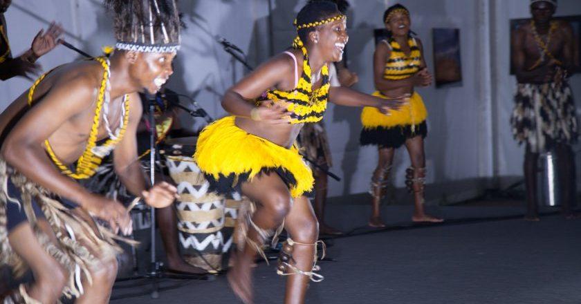 Swerengoma Arts Production group from Zimbabwe performing Shona Ritual dances PIC: COURTESY OF BAKWEMAGAZINE
