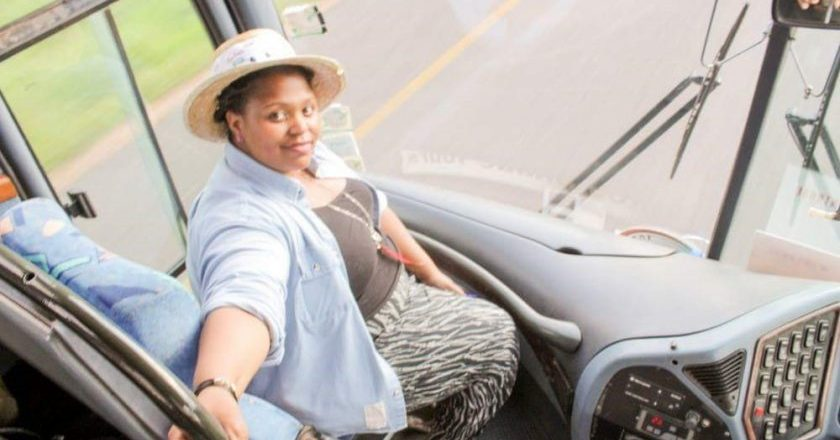 Brains behind #ThisBhazi, Steph Kapfunde aboard the party bus last year