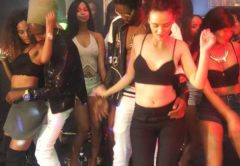 A scene from the video shoot of the track Rugare