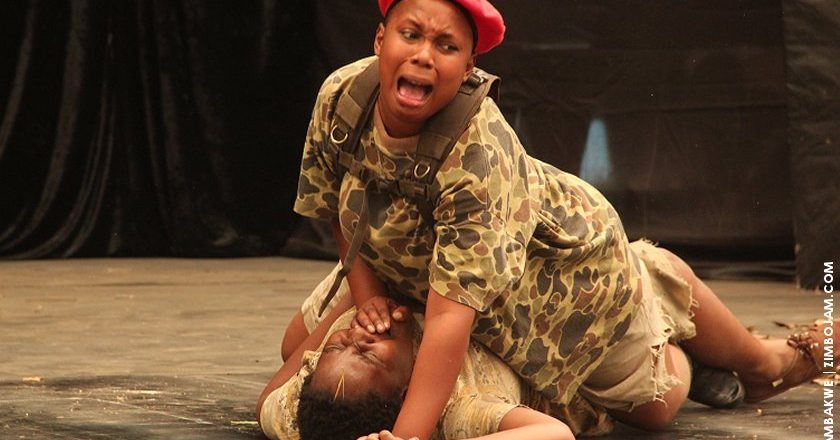 A rape scene in the play which looks at the plight of the girl child. PIC: T. CHIHAMBAKWE | ZIMBOJAM.COM