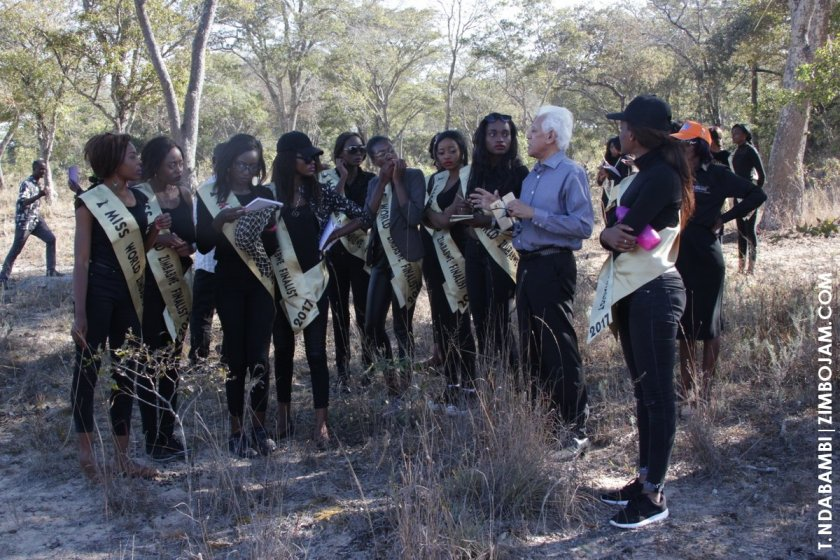 H.E Kamal Khalifan answering questions from the girls on game PIC: T. NDABAMBI | ZIMBOJAM.COM
